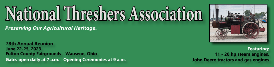 Threshers Schedule 2020 National Threshers Association, Annual Steam Traction Engine Show